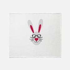 Nerd Rabbit Throw Blanket