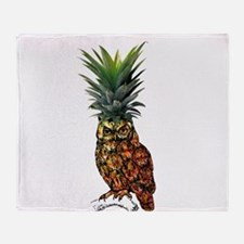 Pineowlpple Throw Blanket