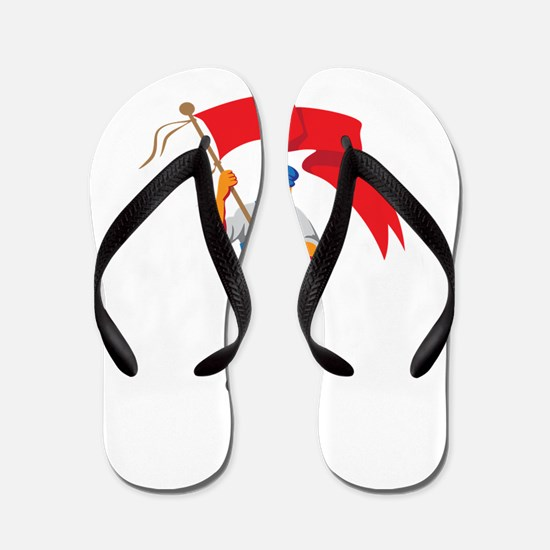 Worker Marching Flag Bearer WPA Flip Flops