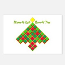 xmas treesave quilt nb go Postcards (Package of 8)