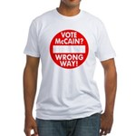 McCain? Wrong Way! Fitted T-Shirt