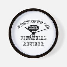 Property of a Financial Adviser Wall Clock