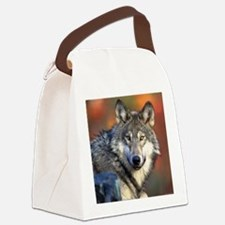 Wolf Photograph Canvas Lunch Bag