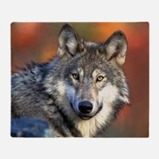 Wolf Photograph Throw Blanket