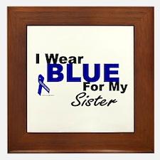 I Wear Blue 3 (Sister CC) Framed Tile