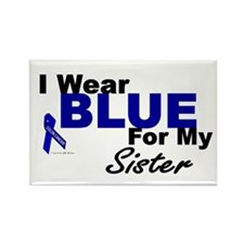 I Wear Blue 3 (Sister CC) Rectangle Magnet