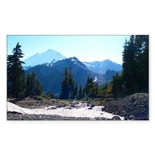 Mt. Baker at Artist Point Rectangle Decal