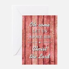 OH COME LET US... Greeting Cards