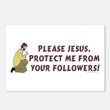 Please Jesus Protect Me H Postcards (Package of 8)