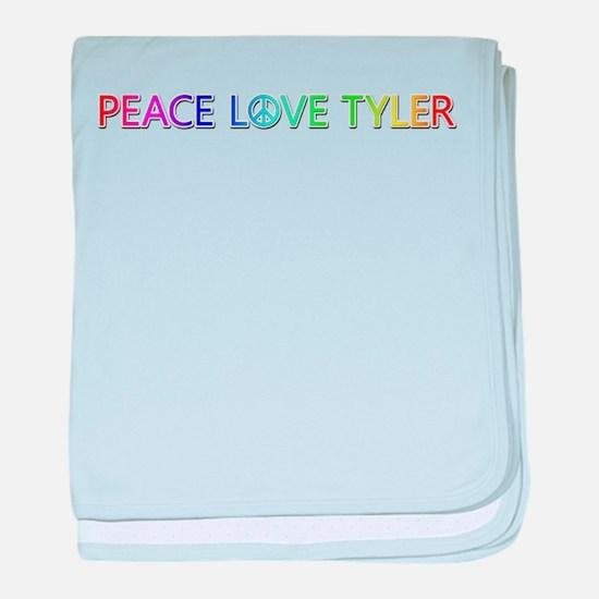 Peace Love Tyler baby blanket