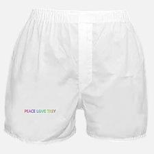 Peace Love Trey Boxer Shorts