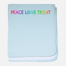 Peace Love Trent baby blanket
