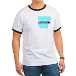True Blue Arkansas LIBERAL Men's Ringer T-shirt