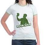 BEER MAN - st. patty's day Jr. Ringer T-shirt