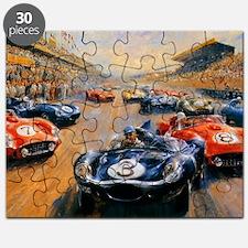 Vintage Car Race Painting Puzzle