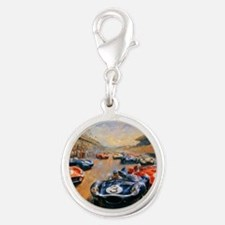 Vintage Car Race Painting Charms