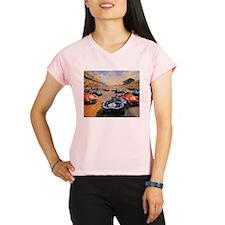 Vintage Car Race Painting Performance Dry T-Shirt