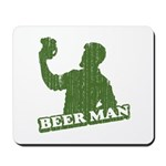 BEER MAN - st. patty's day Mousepad