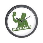 BEER MAN - st. patty's day Wall Clock