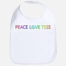 Peace Love Tess Bib