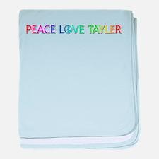 Peace Love Tayler baby blanket