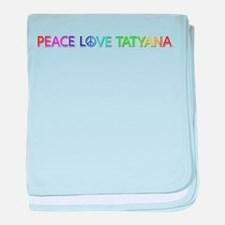 Peace Love Tatyana baby blanket