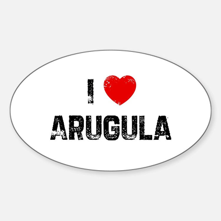 I * Arugula Oval Decal