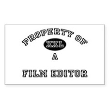 Property of a Film Editor Rectangle Decal