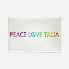 Peace Love Talia Rectangle Magnet