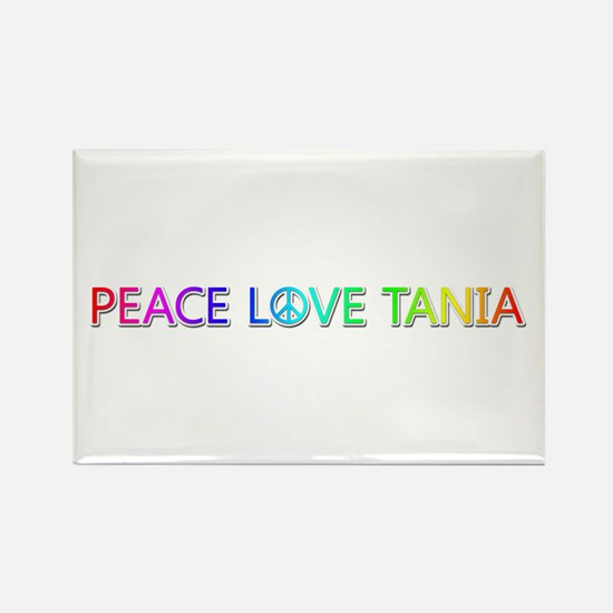 Peace Love Tania Rectangle Magnet