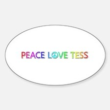 Peace Love Tess Oval Decal