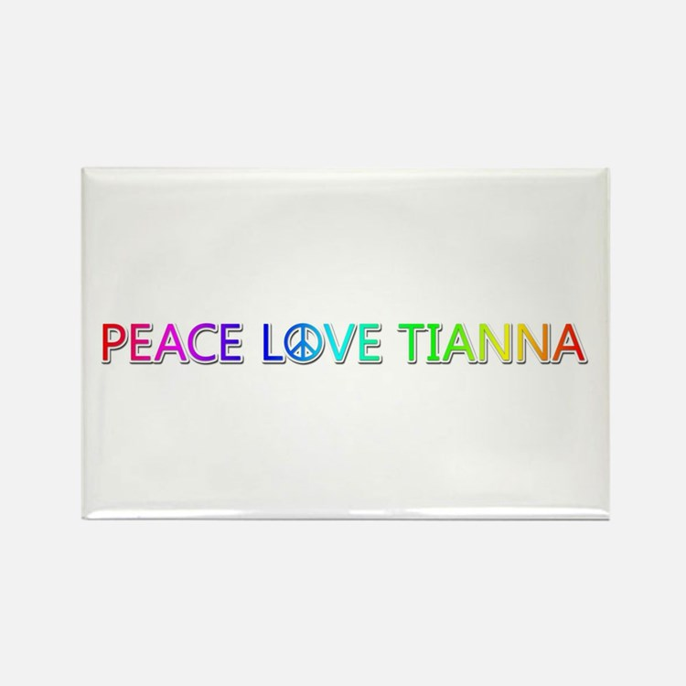 Peace Love Tianna Rectangle Magnet