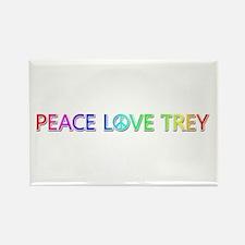 Peace Love Trey Rectangle Magnet