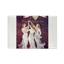 3 Graces with Smiling faces Rectangle Magnet