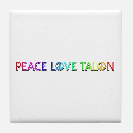 Peace Love Talon Tile Coaster