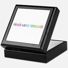 Peace Love Terrence Keepsake Box