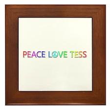 Peace Love Tess Framed Tile