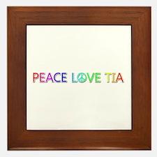 Peace Love Tia Framed Tile