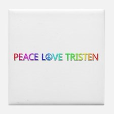 Peace Love Tristen Tile Coaster