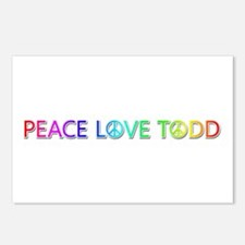 Peace Love Todd Postcards 8 Pack