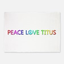 Peace Love Titus 5'x7' Area Rug