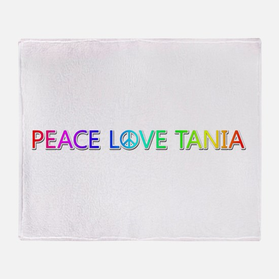 Peace Love Tania Throw Blanket