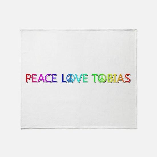 Peace Love Tobias Throw Blanket