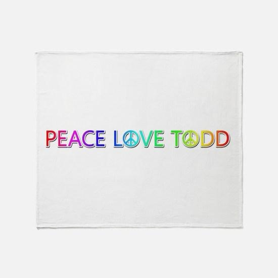 Peace Love Todd Throw Blanket