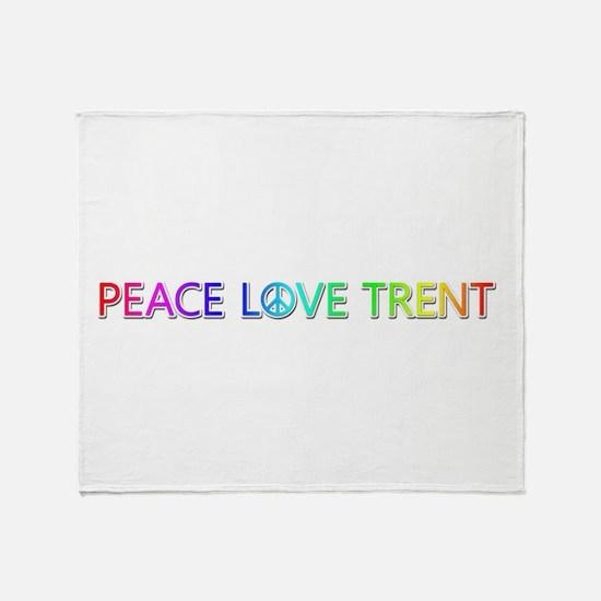 Peace Love Trent Throw Blanket