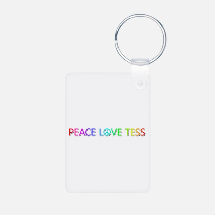 Peace Love Tess Aluminum Keychain
