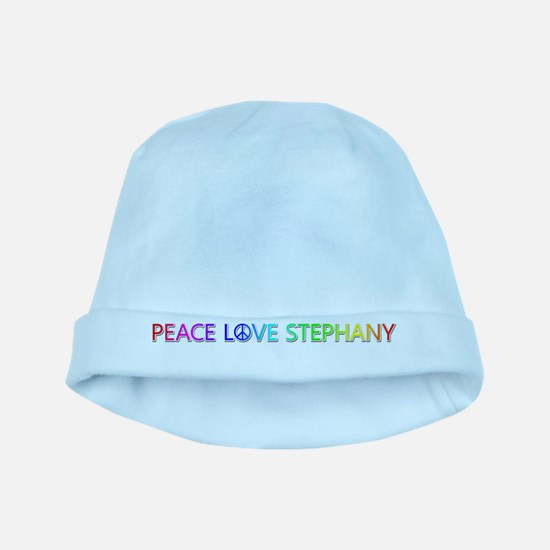 Peace Love Stephany baby hat