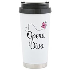 Unique Opera Stainless Steel Travel Mug