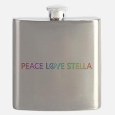 Peace Love Stella Flask