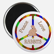 Peace Love Rabbits Magnet